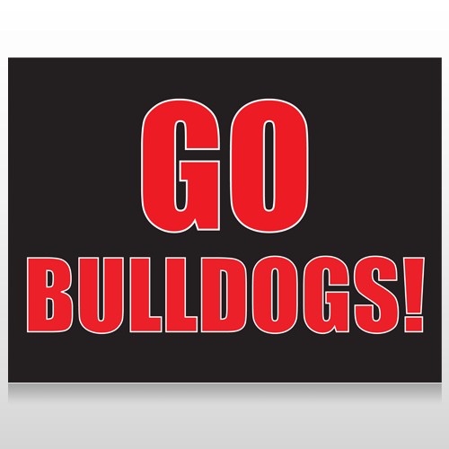 Go Bulldogs 75 Custom Sign