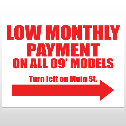 Low Monthly 116 Custom Sign