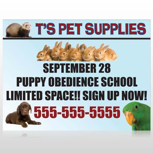 Pet Supplies 305 Custom Sign