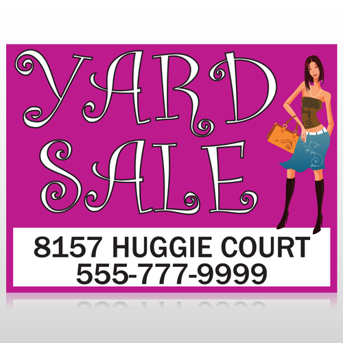 Pink Girl Sale 552 Custom Sign