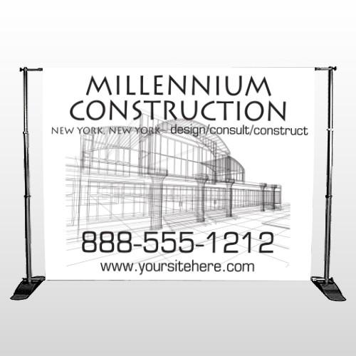 Builder 36 Pocket Banner Stand