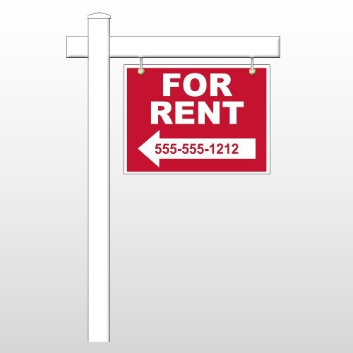 "For Rent 43 18""H x 24""W Swing Arm Sign"