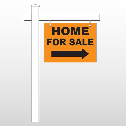 """Home For Sale 34 18""""H x 24""""W Swing Arm Sign"""