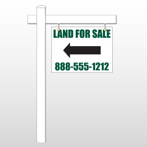 "Land 23 18""H x 24""W Swing Arm Sign"