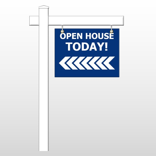 "Open House 19 18""H x 24""W Swing Arm Sign"