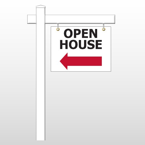 """Open House 20 18""""H x 24""""W Swing Arm Sign"""