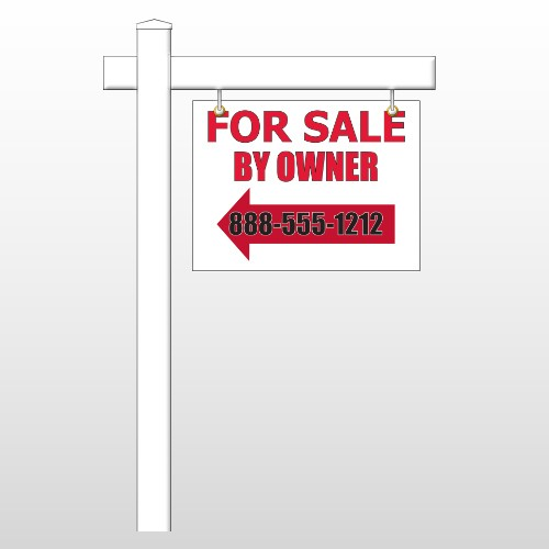 """Sale By Owner 24 18""""H x 24""""W Swing Arm Sign"""