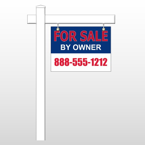 """Sale By Owner 31 18""""H x 24""""W Swing Arm Sign"""