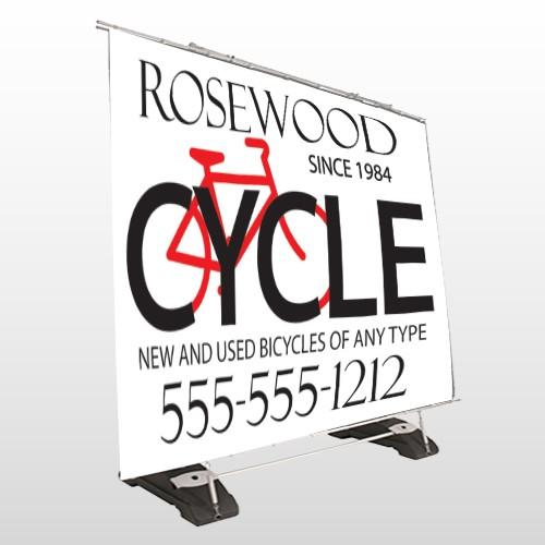 Bike Shop 33 Exterior Pocket Banner Stand