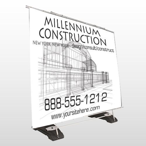 Builder 36 Exterior Pocket Banner Stand