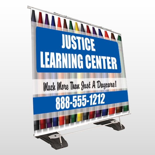 Crayons 184 Exterior Pocket Banner Stand