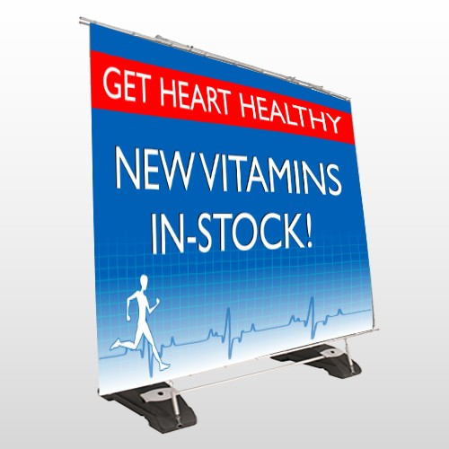 Heart Healthy 140 Exterior Pocket Banner Stand