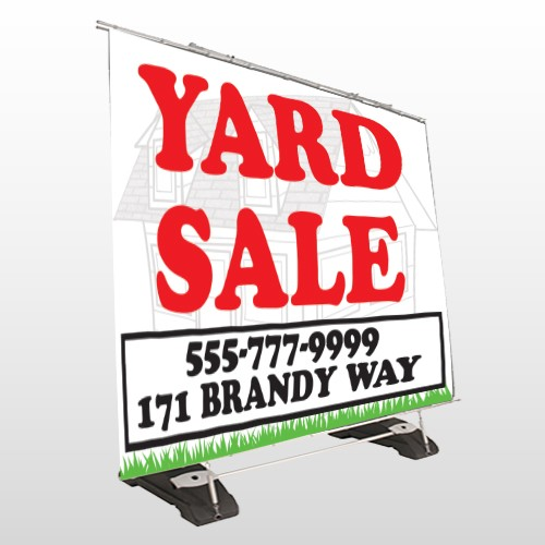 House In Grass 548 Exterior Pocket Banner Stand