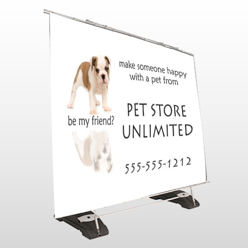 Pet Store 26 Exterior Pocket Banner Stand