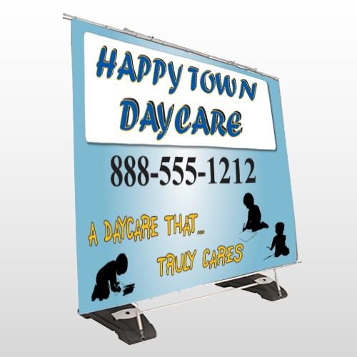 True Happy Care 182 Exterior Pocket Banner Stand