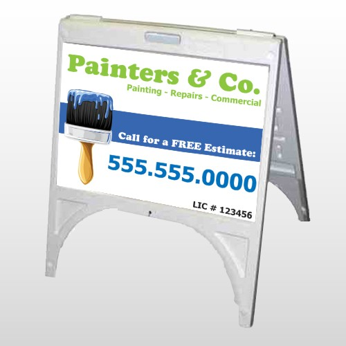 Blue Paint Brush 305 A-Frame Sign