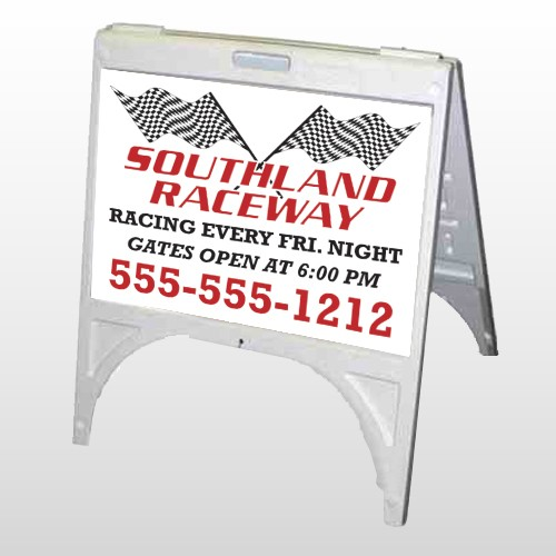 Racetrack 31 A Frame Sign