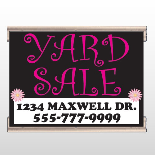 Pink Yard Sale 550  Track Banner
