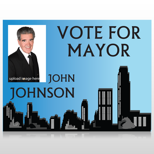 Vote Mayor City 263 Custom Sign