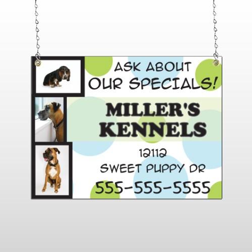 Dog Kennels 300 Window Sign