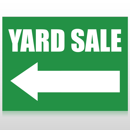 Yard Sale Arrow 96 Custom Sign