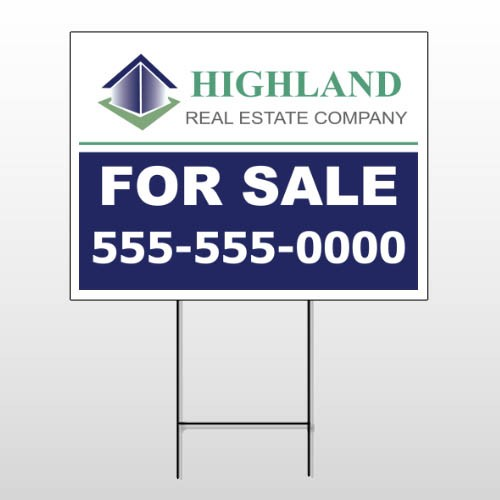 For Sale Blue House 133 Wire Frame Sign