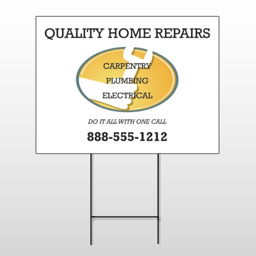 Construction 241 Wire Frame Sign