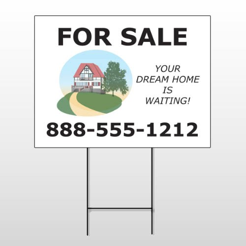 For Sale 137 Wire Frame Sign
