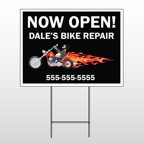 Harley Flames 323 Wire Frame Sign