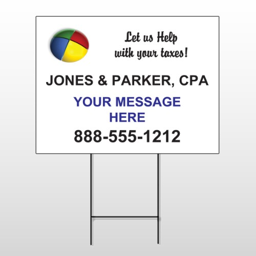 Pie Taxes 172 Wire Frame Sign