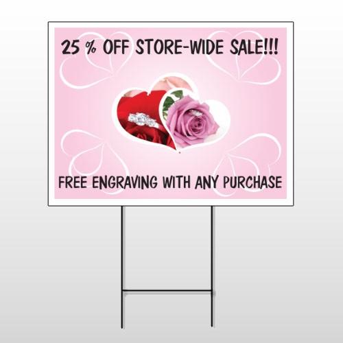 Pinkrose Hidden Ring 399 Wire Frame Sign