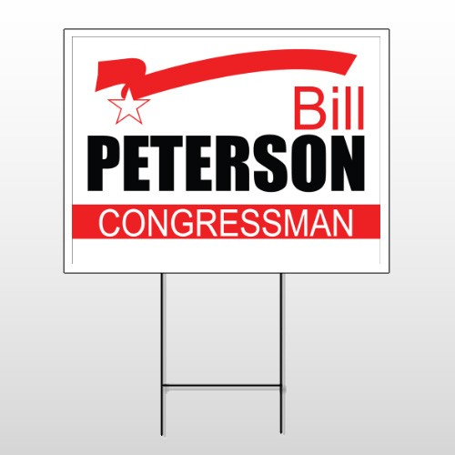 Political 15 Wire Frame Sign
