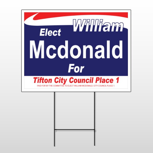 Political 16 Wire Frame Sign