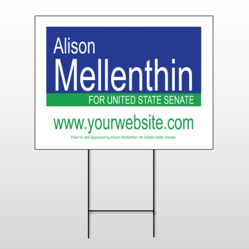 Political 17 Wire Frame Sign