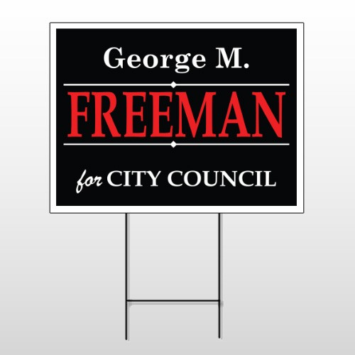 Political 35 Wire Frame Sign