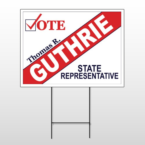 Political 40 Wire Frame Sign