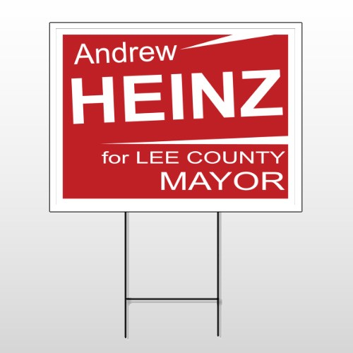 Political 56 Wire Frame Sign