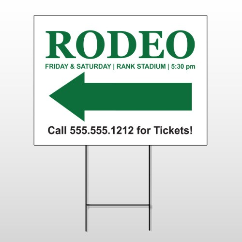 Rodeo 77 Wire Frame Sign