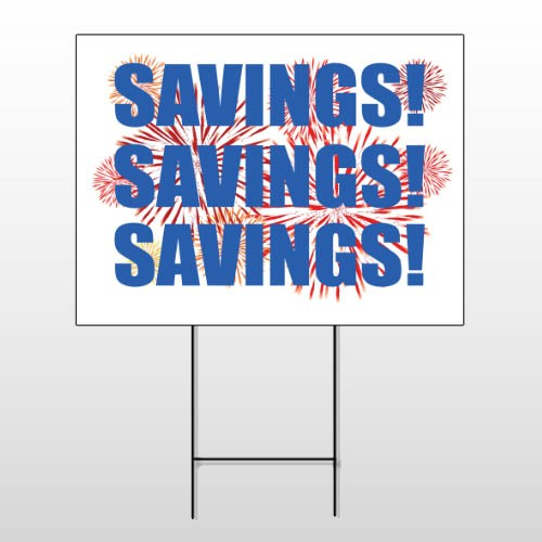 Savings 167 Wire Frame Sign