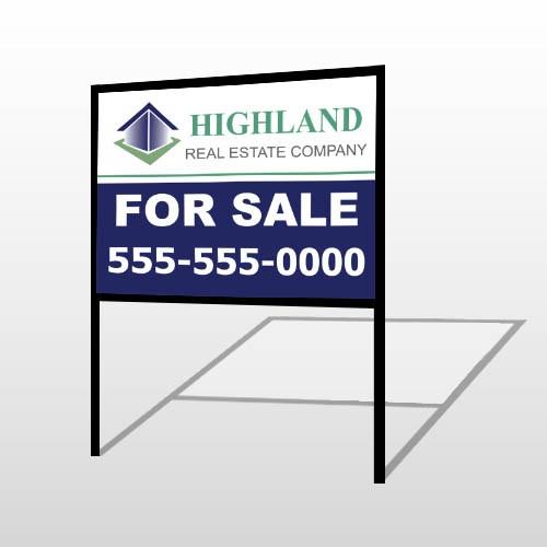 For Sale Blue House 133 H-Frame Sign