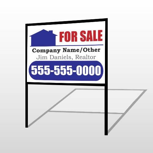 For Sale 135 H-Frame Sign