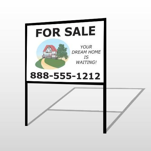 For Sale 137 H-Frame Sign