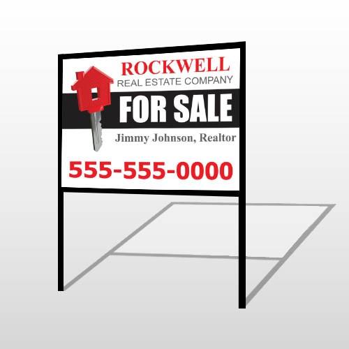 For Sale Key 132 H-Frame Sign