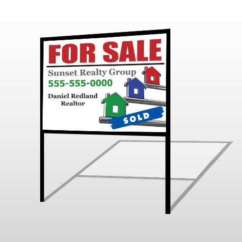 For Sale Keys 129 H-Frame SignTemplate