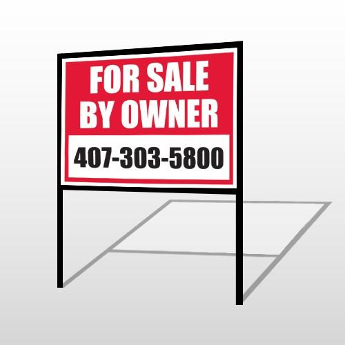 Sale By Owner 13 H-Frame Sign