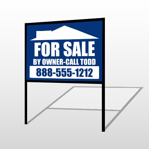Sale By Owner 28 H-Frame Sign