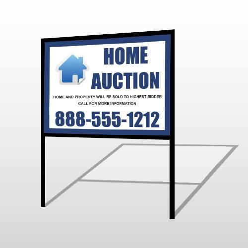 Blue House Auction 253 H-Frame Sign