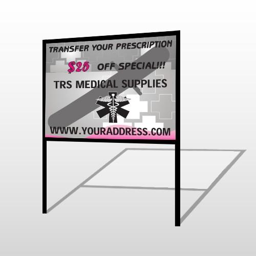 Caduceus Med 503 H-Frame Sign