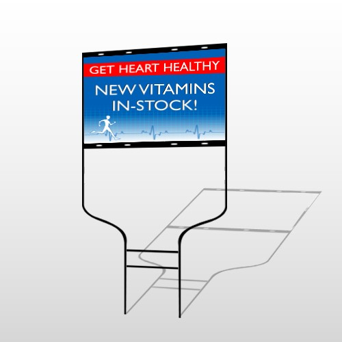 Heart Healthy 140 Round Rod Sign