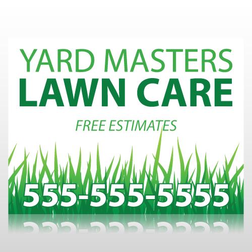 Landscape Commercial Sign: Lawn Care Sign Panel